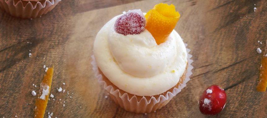 Cranberry Orange Cupcakes with Orange Buttercream