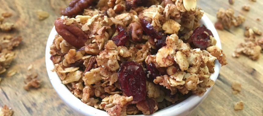 Healthy Cranberry Spice Granola